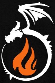 Firedragon764 Fire Dragon Flame Logo - Mens T-Shirt - flame logo