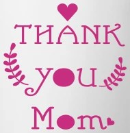 Thank you mom typo with heart by mycastillo Spreadshirt