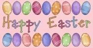 Happy Easter Egg Border Maternity Long T-Shirt Spreadshirt