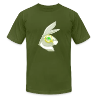 Follow the White Rabbit - White With Green Eye by PQWER TO THE