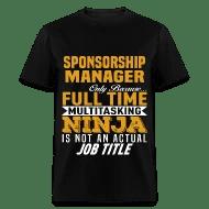 Sponsorship Manager Men\u0027s T-Shirt Spreadshirt