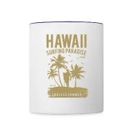 Sonneninsel Hawaii Hawaii Contrast Coffee Mug White Cobalt Blue