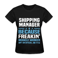 Shop Shipping Manager Funny T-Shirts online Spreadshirt