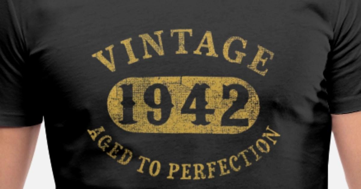 75 Years Old 75th Birthday Gift Vintage 1942 Aged Men39s V