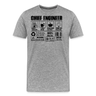 Chief Engineer Job Men\u0027s Premium T-Shirt Spreadshirt