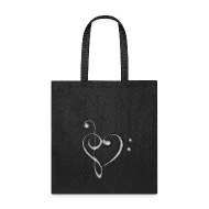 Treble/Bass Clef Heart by FramerKat Spreadshirt - base cleff