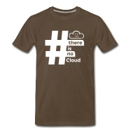 Chris Watterston Designs There Is No Cloud Hashtag T-Shirt - Brown