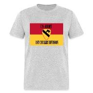 Military Veteran Pride US Army 1st Cavalry Division Flag Shirt