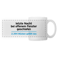 Baby Sommer Offenes Fenster Nacht Schlaf Fenster Mücken Social Media Facebook Panoramic Mug White Yellow