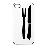 Besteck Messer Steak Besteck Gabel Und Messer Iphone Hard Case Weiß Schwarz