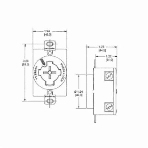 Hubbell Wiring Device-Kellems Hubbellock® HBL20443 Grounding Locking