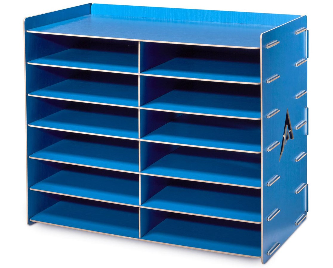 Literature Organizer Wood Adiroffice Wood 12 Compartment Paper Literature Organizer