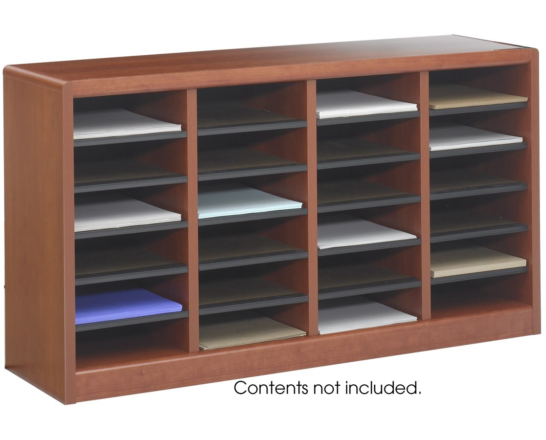Literature Organizer Wood Safco E Z Stor Wood Literature Organizer 24 Compartments