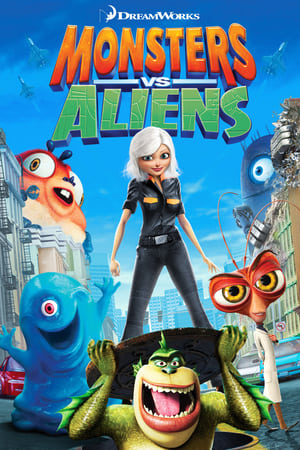 Poster Monsters vs Aliens 2009