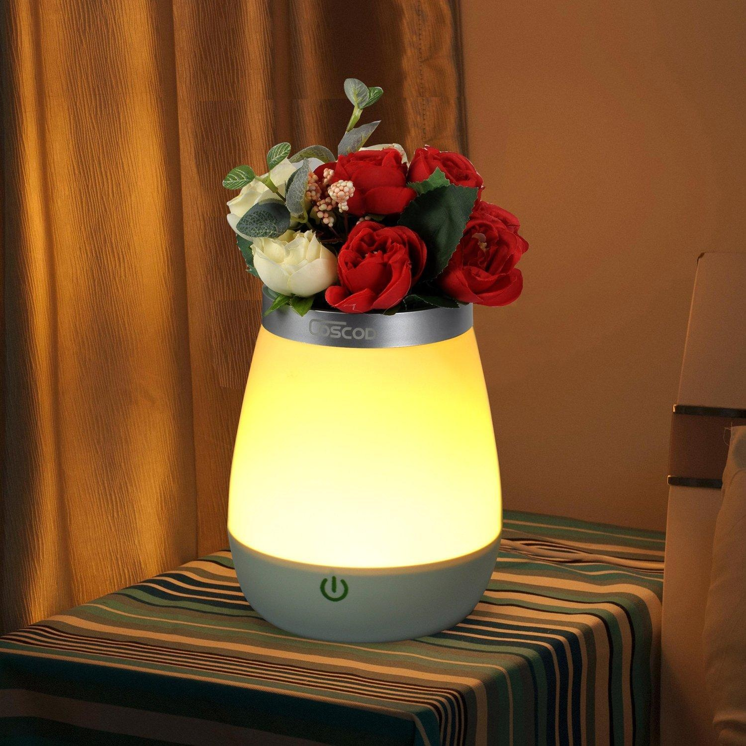 Red Night Light For Nursery Online Store Romantic Vase Lamp Coscod Decorative Mood