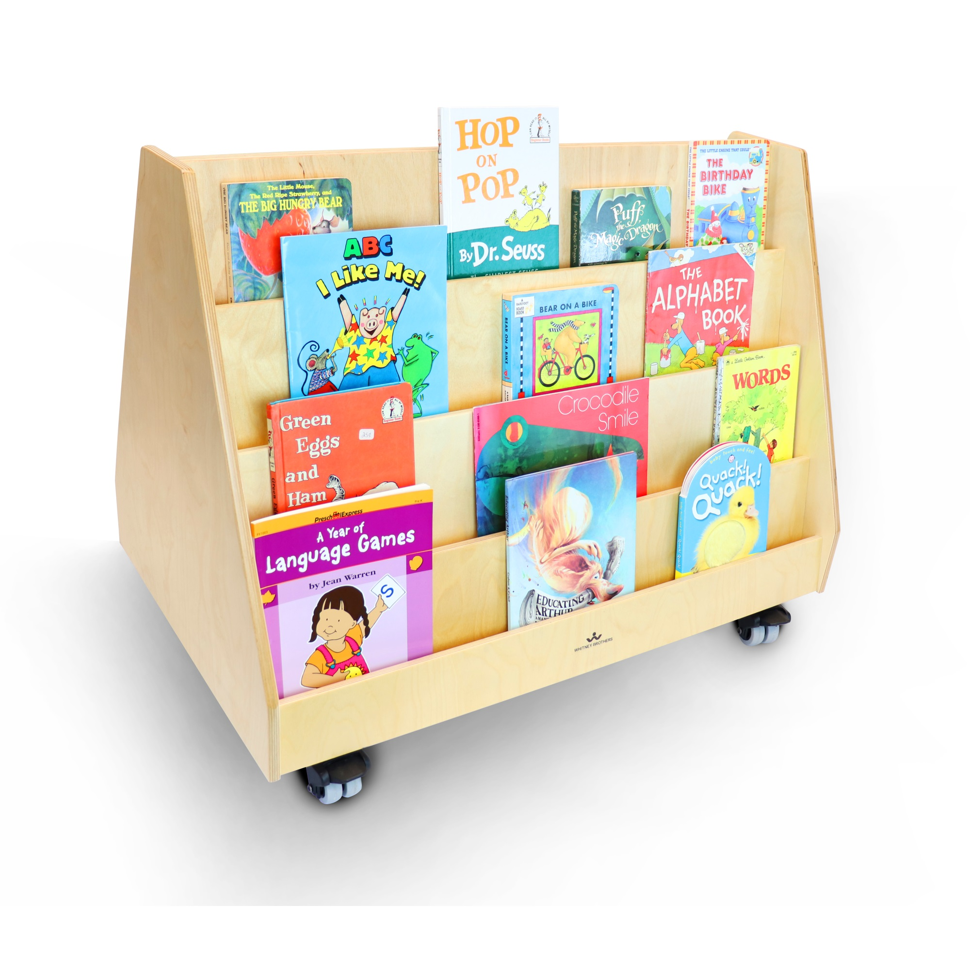 Book Display Stand Two Sided Mobile Book Display Stand