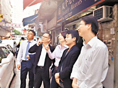 民建聯視察「封樓」促重建 - 香港文匯報