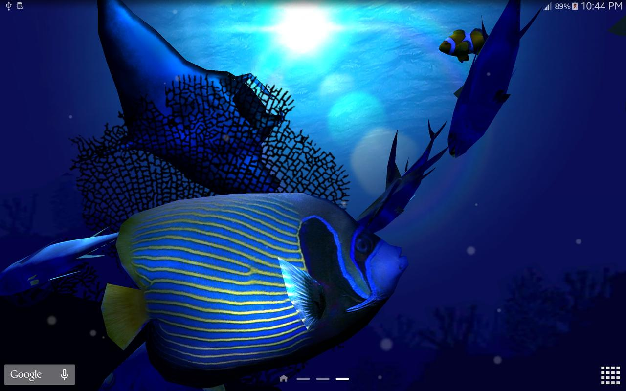 3d Animated Fish Wallpaper Ocean Blue 3d Apk Download Free Personalization App For