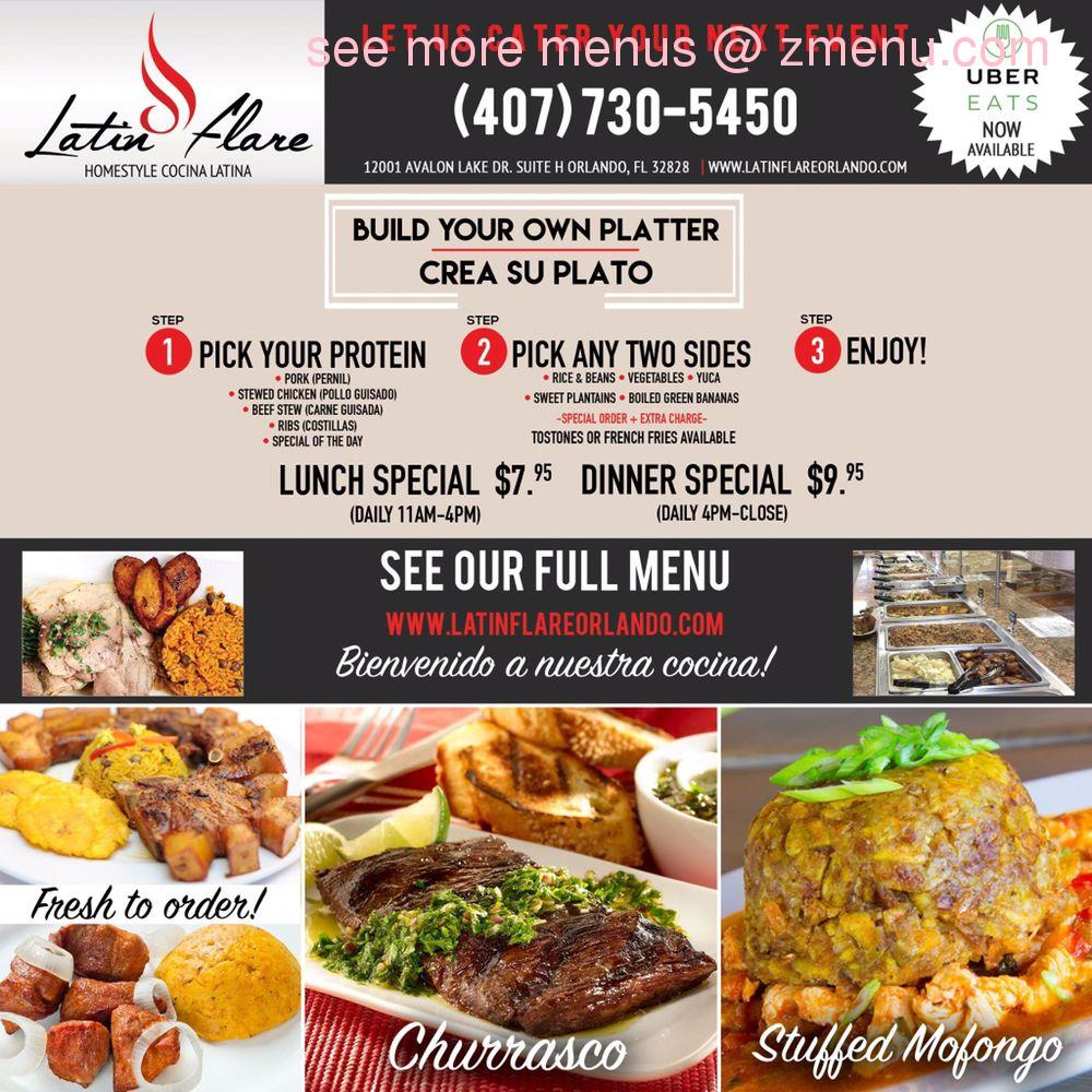 Cocina Latina Waterford Lakes Online Menu Of Latin Flare Closed
