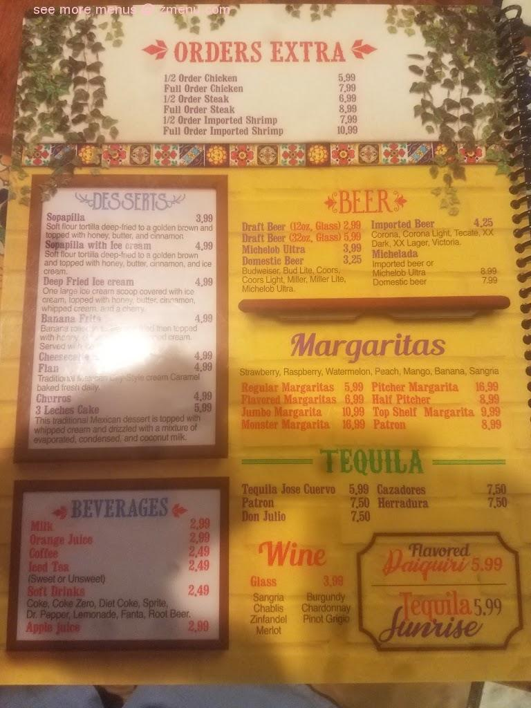 Online Menu Of Jalisco Mexican Grill Restaurant Abbeville Louisiana 70510 Zmenu