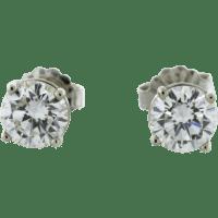 Diamond Earrings: 1 Carat Diamond Stud Earrings Set In 14k ...