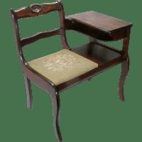 Vintage Frankson Mahogany Wood Telephone Phone Table ...