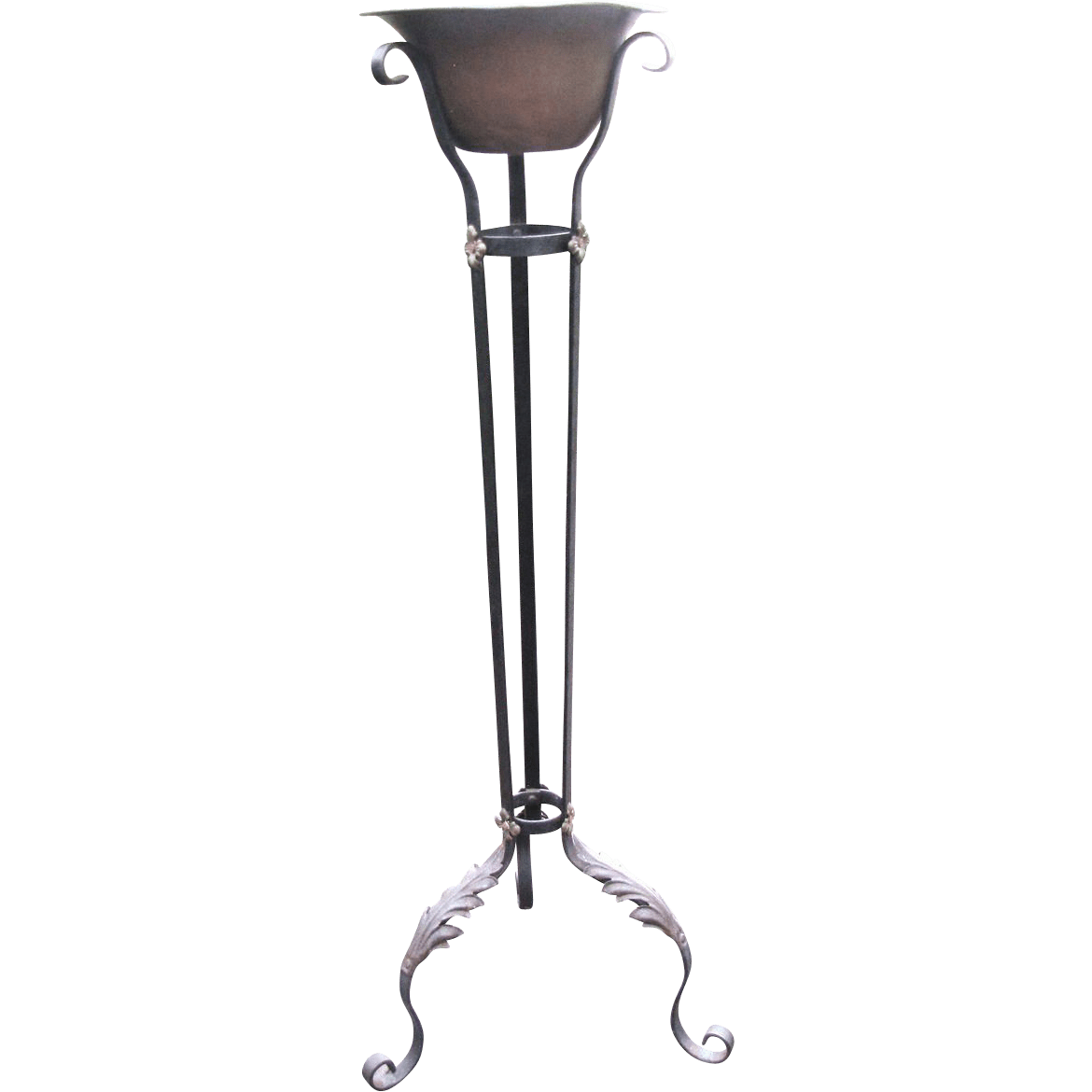Tall Wrought Iron Plant Stands Antique Wrought Iron Plant Stand Original Poly Chrome