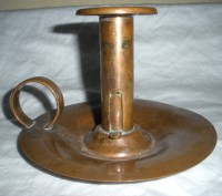 Vintage Venetian Copper Candle Holder with Finger Loop