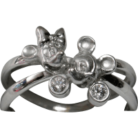 RARE Disney Mickey & Minnie 18k Diamond Ring - Unique ...