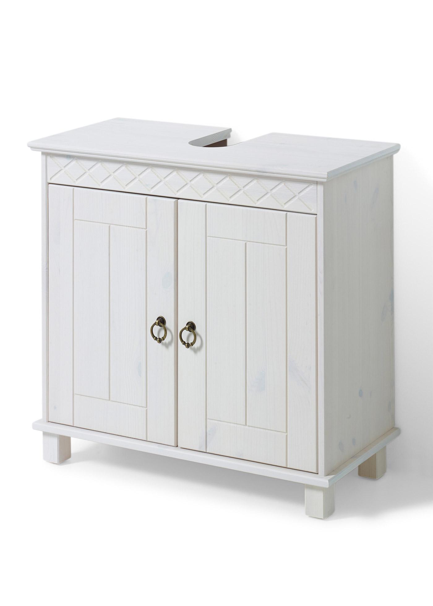 Waschbeckenunterschrank Landhausstil Weiß