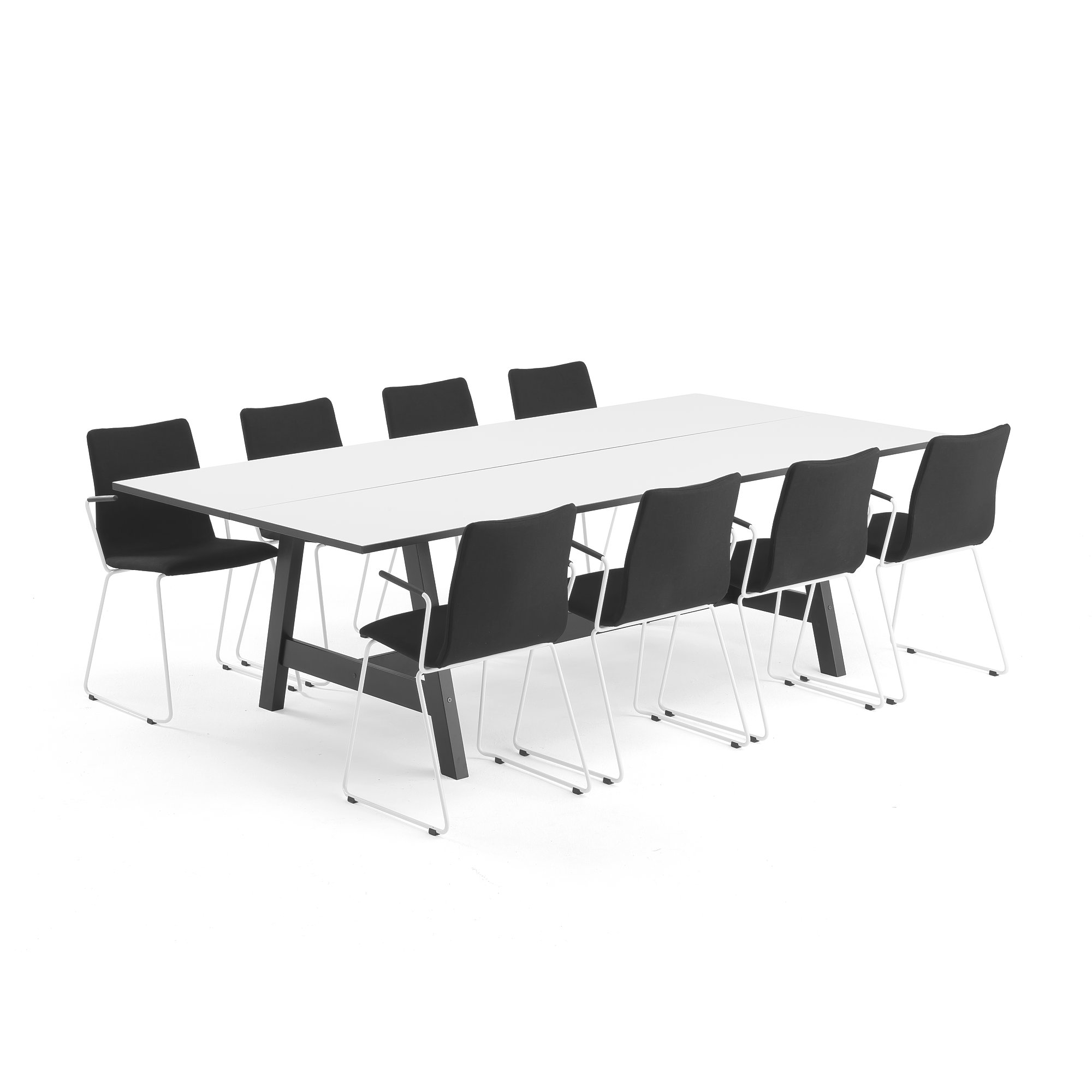Modern Furniture Ottawa Conference Package Deal Nomad Ottawa 1 Table And 8 Black Chairs Aj Products Ireland
