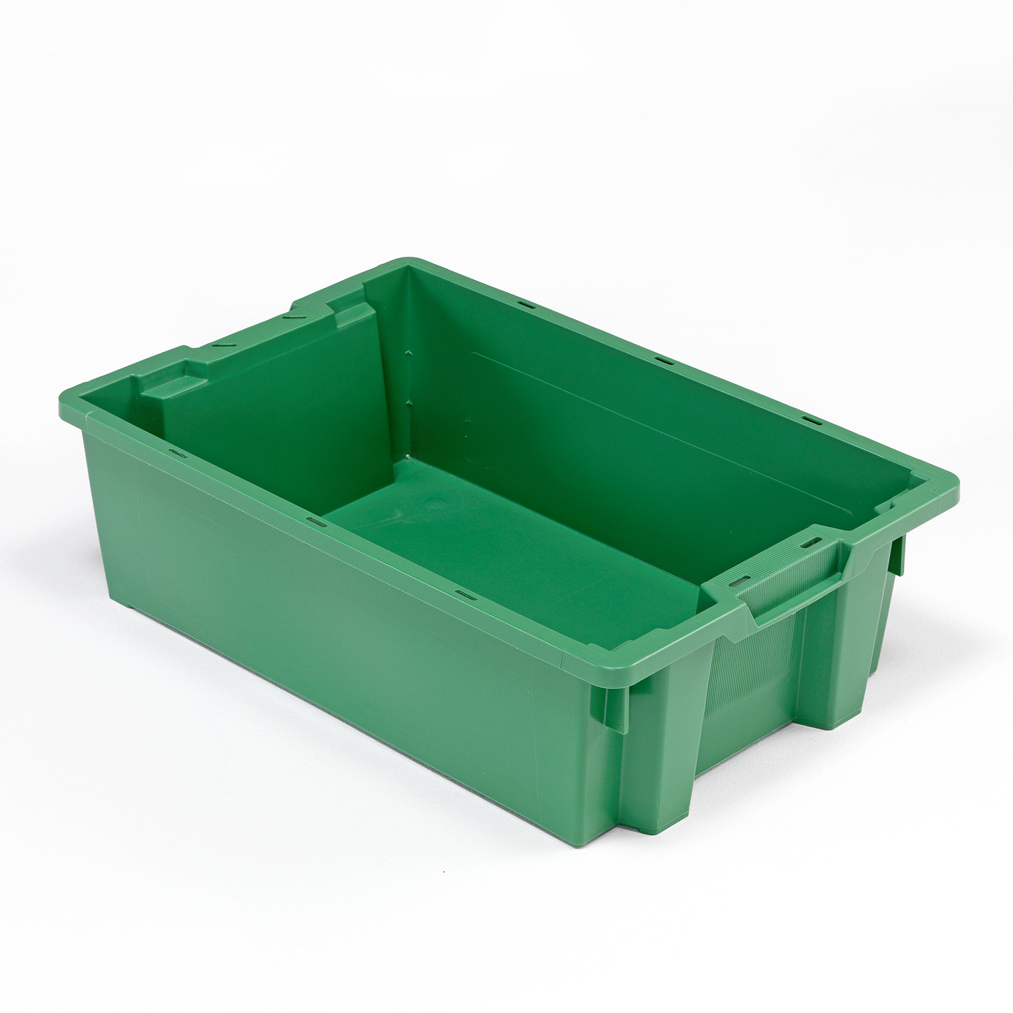 Plastikkisten Stapelbar Plastic Boxes, Stackable, 600x400x180 Mm, 32 L, Green | Aj
