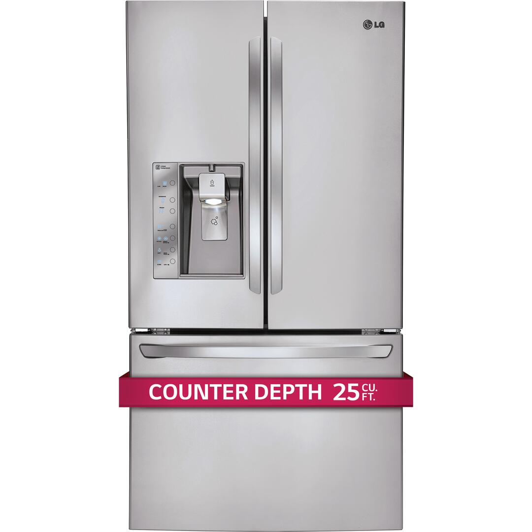 Counter Depth Microwave Lg Lfx25991st Counter Depth French Door Refrigerator With