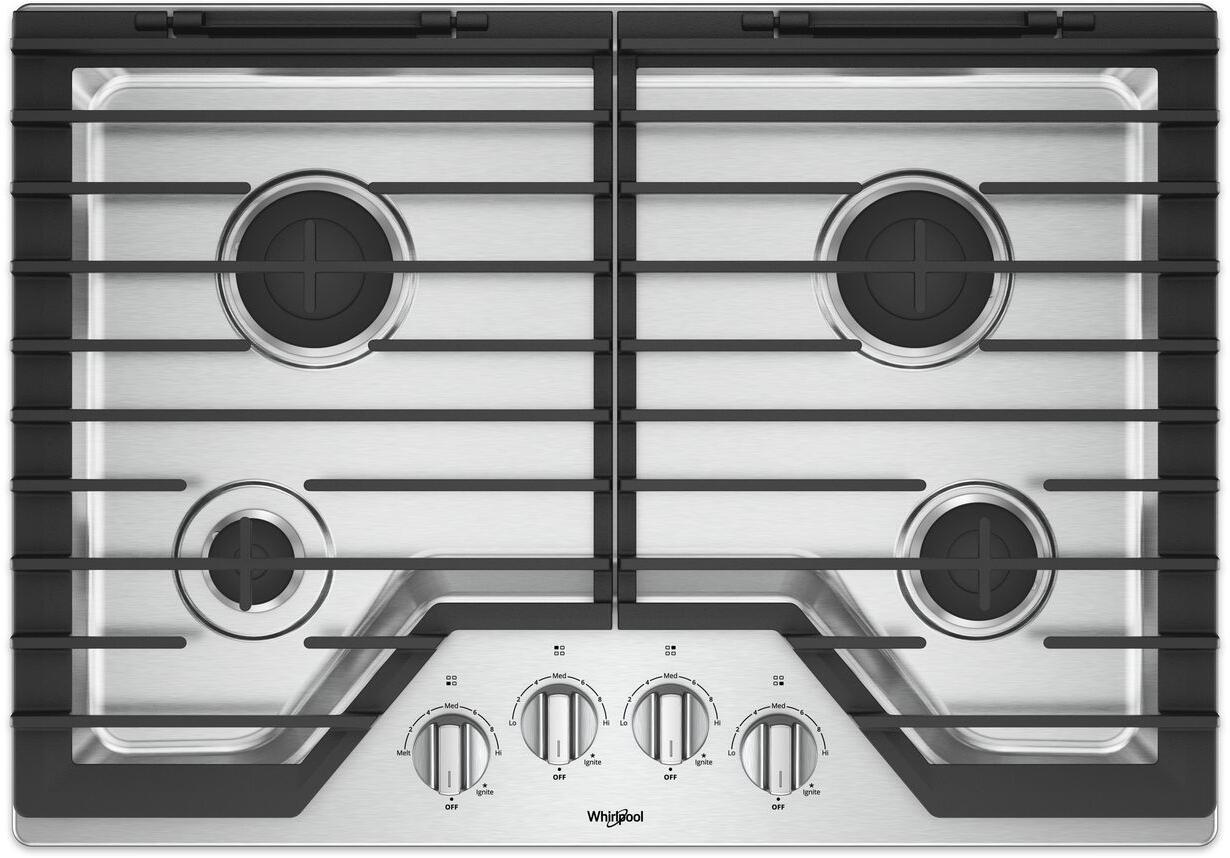 Whirlpool Countertop Stove Whirlpool Wcg55us0hs 30 Inch Gas Sealed Burner Cooktop
