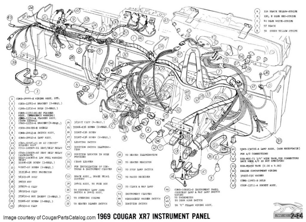1969 car ledningsdiagram 1968 mercury cougar diagram