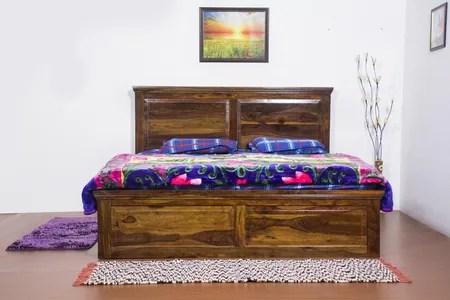 King Size Storage Drawer Bed In Teak Finish By Furniselan