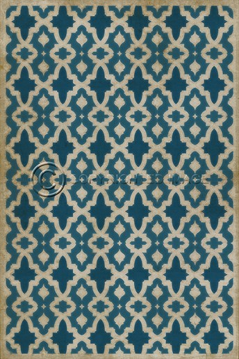 Spicher And Company Vintage Vinyl Floor Cloths The Blue