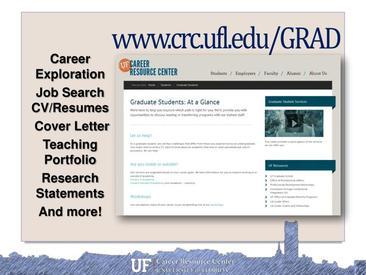 PPT - New Postdoc Orientation The Career Resource Center PowerPoint