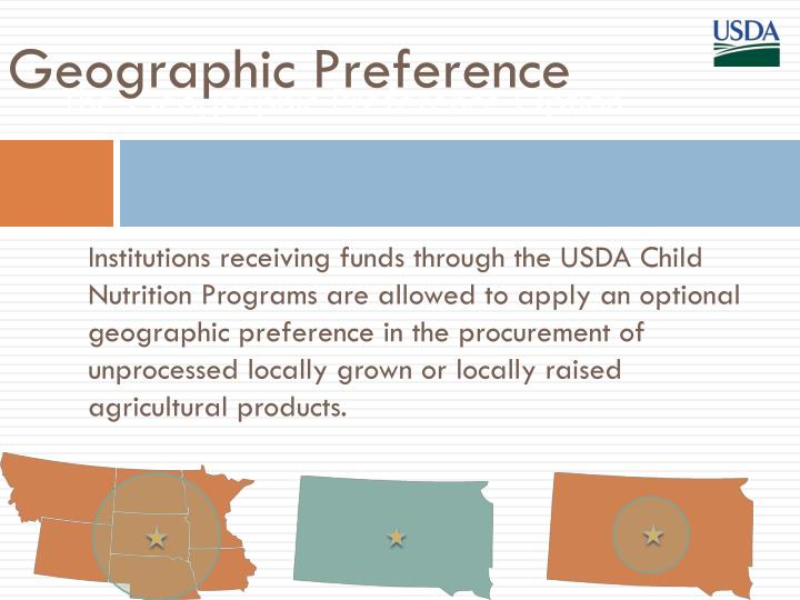 PPT - Farm to School PowerPoint Presentation - ID1561912 - geographic preference