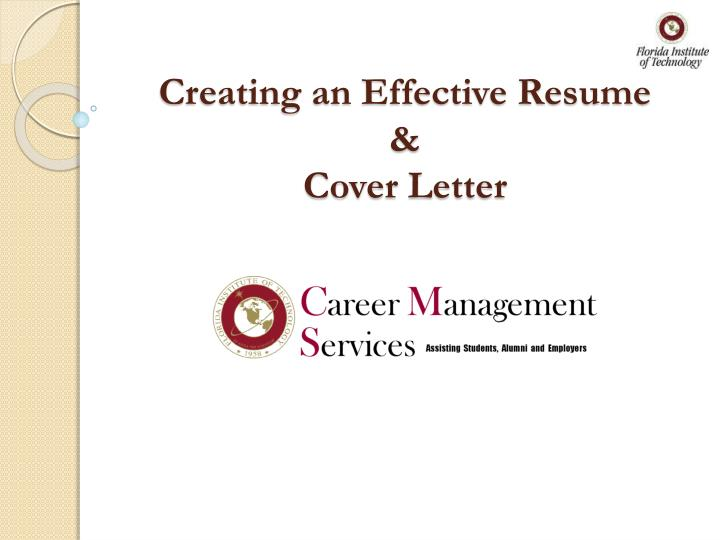 PPT - Creating an Effective Resume  Cover Letter PowerPoint