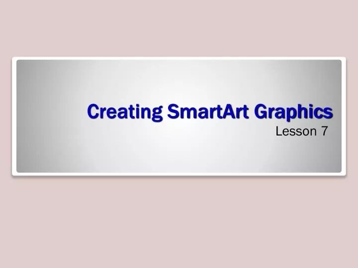 PPT - Creating SmartArt Graphics PowerPoint Presentation - ID1584224