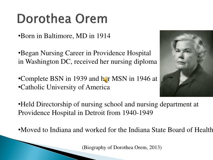 PPT - Dorothea Orem Self-Care Deficit Theory PowerPoint Presentation