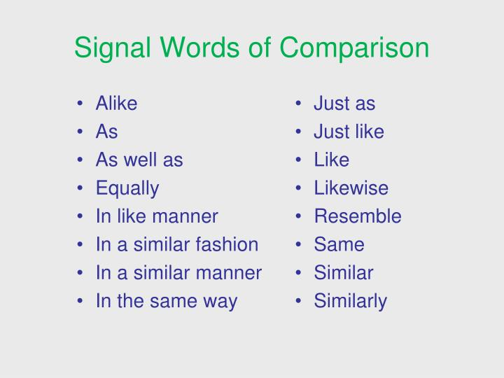 PPT - Signal Words  Patterns of Organization PowerPoint