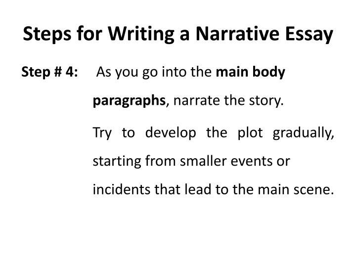 PPT - Narrative Essay PowerPoint Presentation - ID1650194