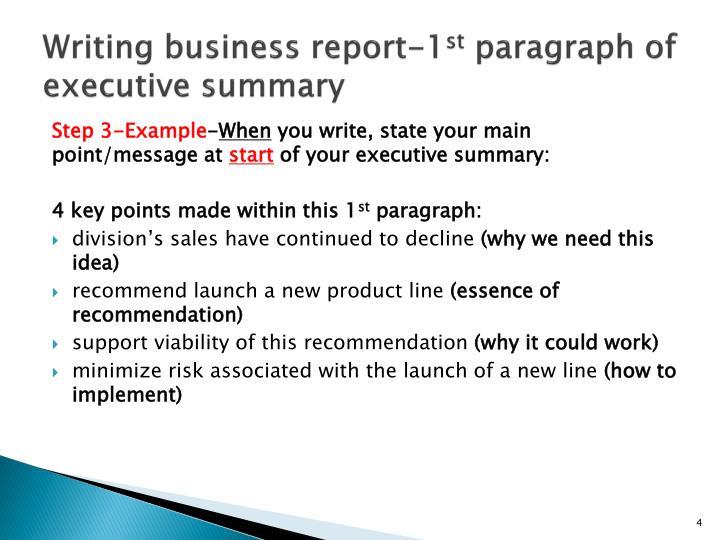 How do you write a business report Homework Academic Writing Service