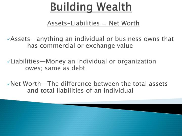 PPT - Building Wealth PowerPoint Presentation - ID1658194