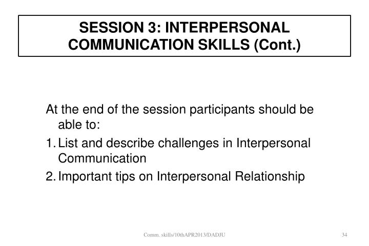 PPT - COMMUNICATION  INTERPERSONAL RELATIONSHIP AT WORKPLACE
