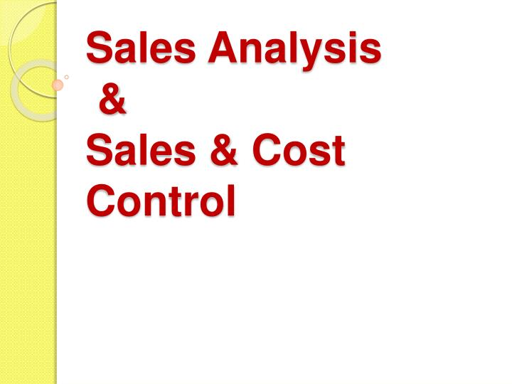 PPT - Sales Analysis amp; Sales amp; Cost Control PowerPoint - cost of sales analysis
