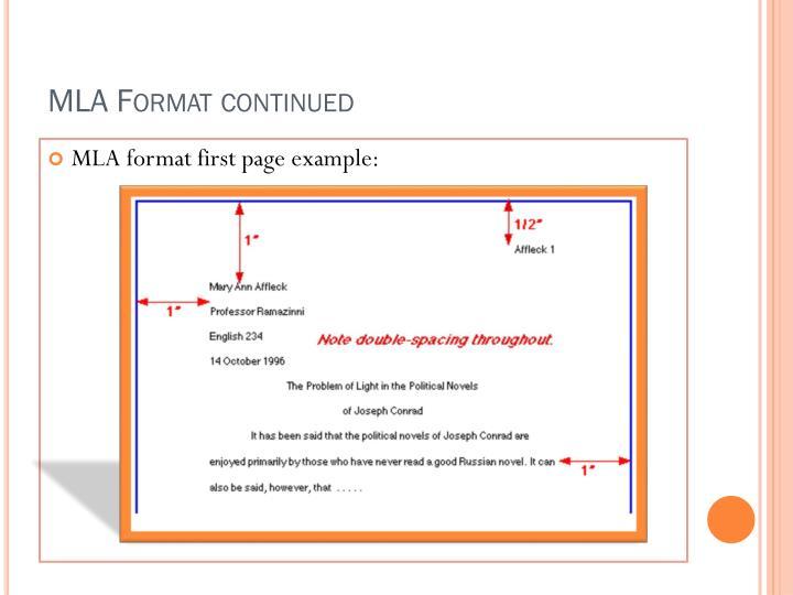 mla format citation page