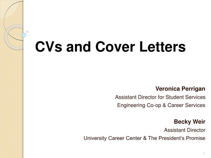 PPT - CVs and Cover Letters PowerPoint Presentation - ID1691629